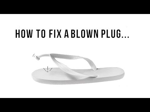 9f4fb1f4bdbc How to fix a thong blow-out - YouTube