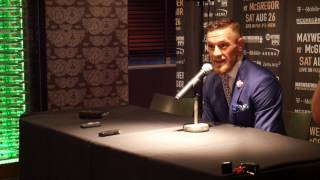 Media Q&A with Conor McGregor after London Press Conference