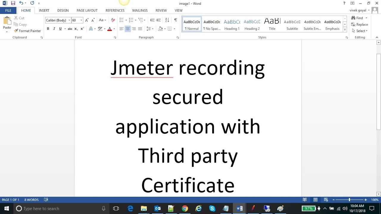 Performance Testing Expert - Jmeter recording secured application with  Third party Certificate