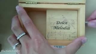 A mano a mano, Rino Gaetano - Carillon Portagioie - Portagioie musicale personalizzato con spartito