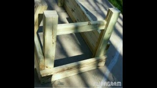Plans and step by step for a Raised Garden Planter whith wheels