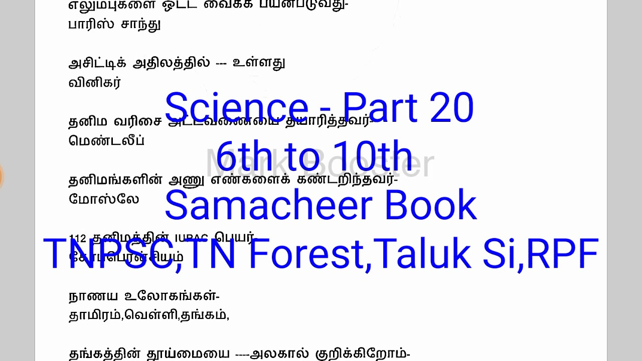 6th To 10th Science Book