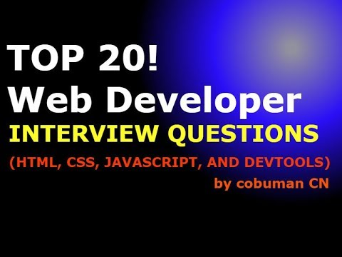 TOP 20 WEB DEVELOPER INTERVIEW QUESTIONS AND ANSWERS (HTML,