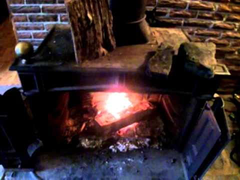 - How I Burning Coal In A Wood Stove - YouTube