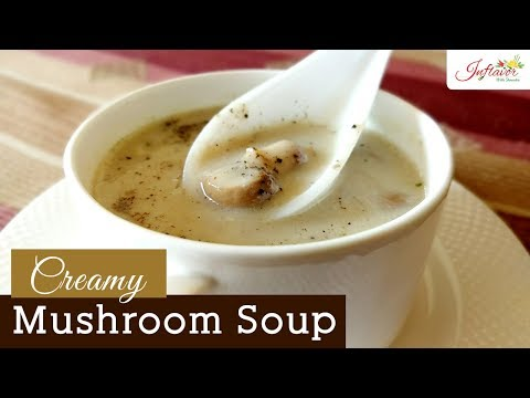 Creamy Mushroom Soup | Healthy Mushroom Soup Weight Loss Recipe | Without Cream | Weight Loss