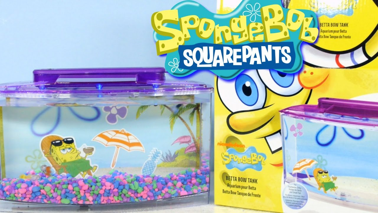 Fish tank toys - Nickelodeon Spongebob Squarepants Betta Bow Fish Tank Setup Review By Disney Cars Toy Club Youtube