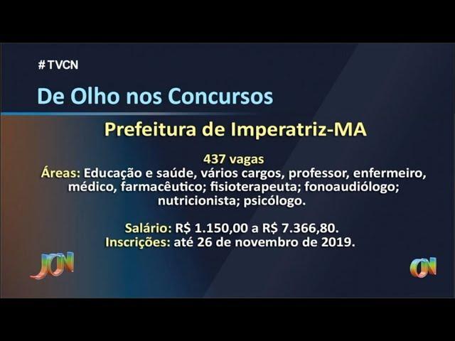 'De Olho nos Concursos' 18.11.2019