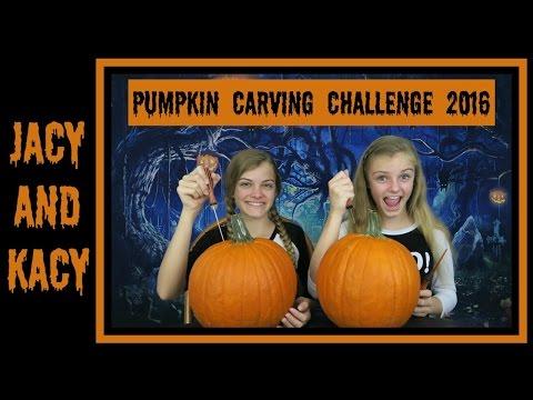 Pumpkin Carving Challenge ~ Halloween 2016 ~ Jacy and Kacy