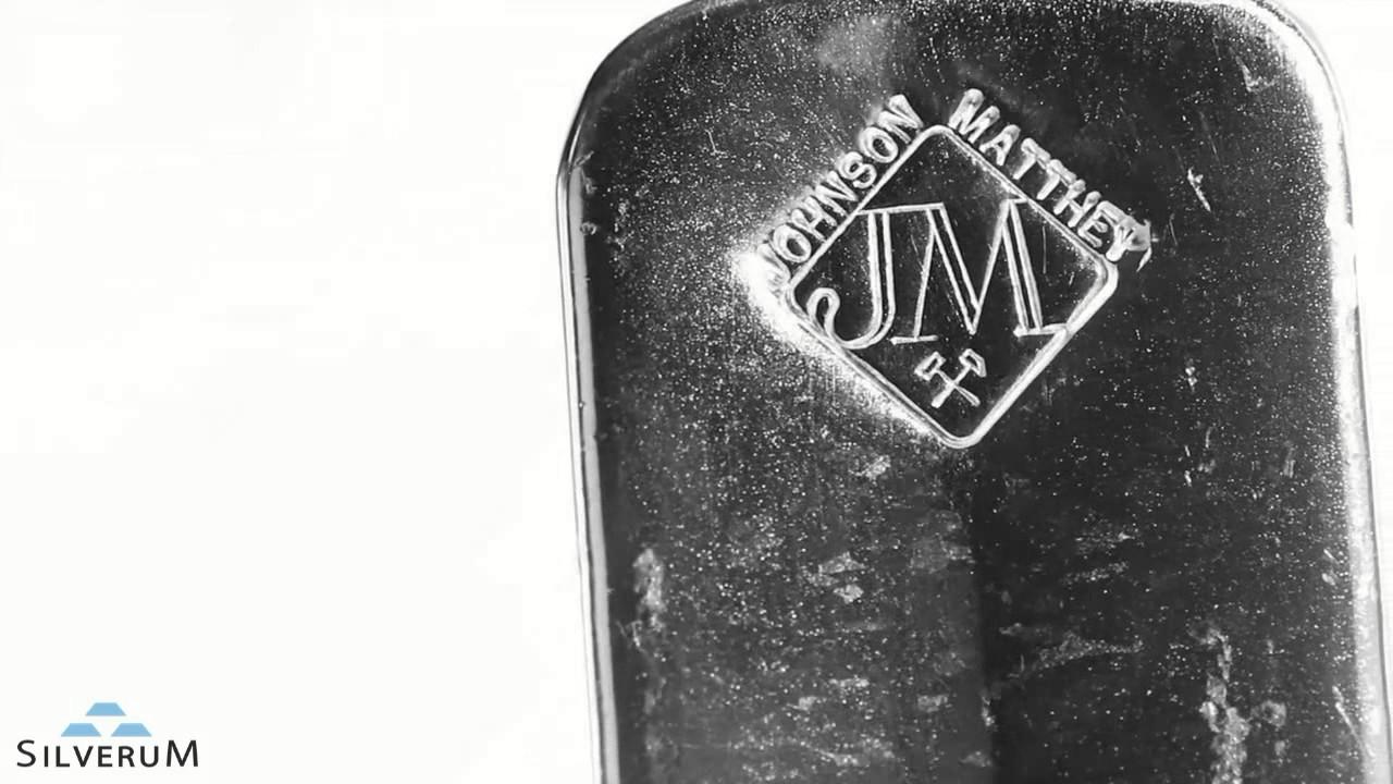 9149d6da9 Strieborná tehla Johnson Matthey 100 oz - SILVERUM - Investiční stříbro,  Investiční zlato
