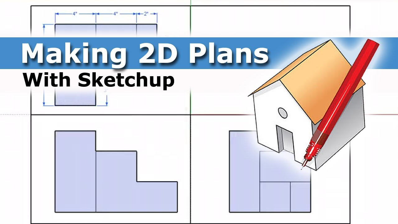 How to make 2d plans using sketchup youtube for How to design a floor plan in sketchup