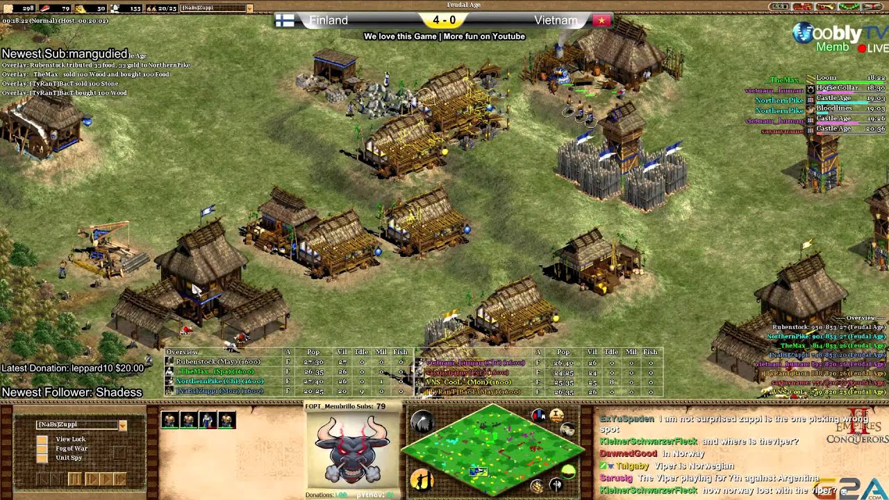 Age of Empires 2 NC II 3rd Match place Finland vs Vietnam Game 5
