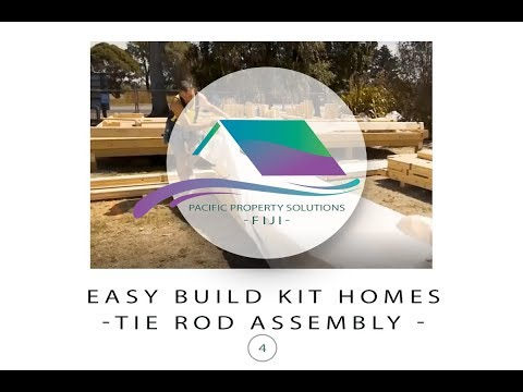 Fiji Easy Build Kit Homes -Tie Rod Assembly Kit Home