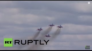 Russia: Russian Air Force takes to the skies for Victory Day warm-up