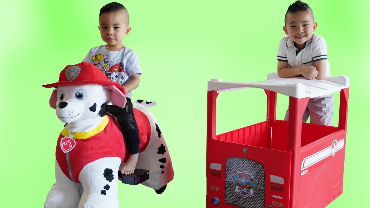 Paw Patrol Marshall 6V Plush Ride On Fun With Ckn Toys