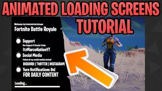 How To Make a Custom Fortnite Animated Loading Screen Template For Free on iOS/Android/PC/Console
