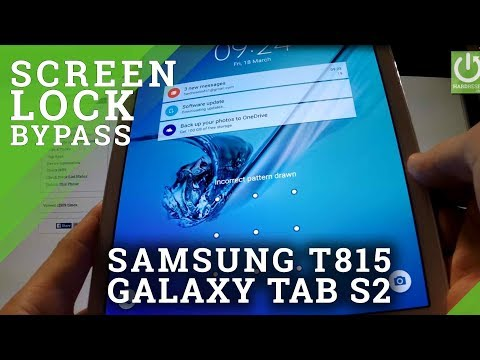 Hard Reset SAMSUNG T815 Galaxy Tab S2 9.7 - reset and bypass screen lock