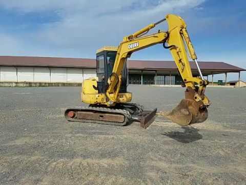 2002 john deere 50 zts mini excavator for sale inspection video rh youtube com John Deere 350 Excavator Specs John Deere Mini Excavator