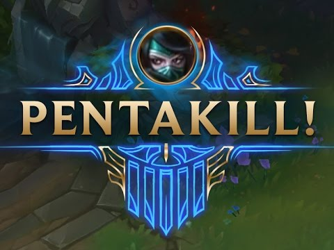 [League of Legends] Top 5 pentakill 1vs5 Akali Compilation 2016 | LMHTVN