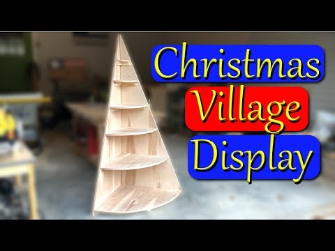 DIY Christmas Tree Village Display Stand
