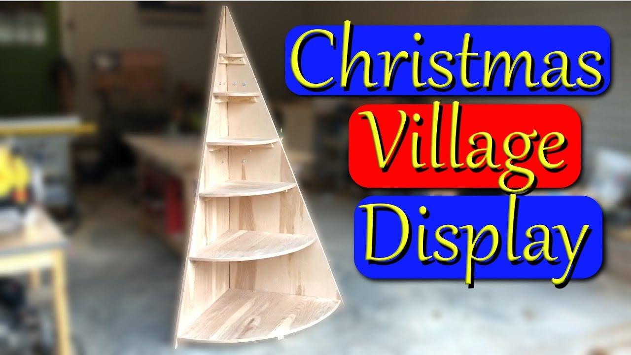 DIY Christmas Tree Village Display Stand - YouTube