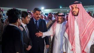 الامير محمد بن سلمان يستقبل و يصلي على جثمان قائد القوات الجوية ـ رحمه الله