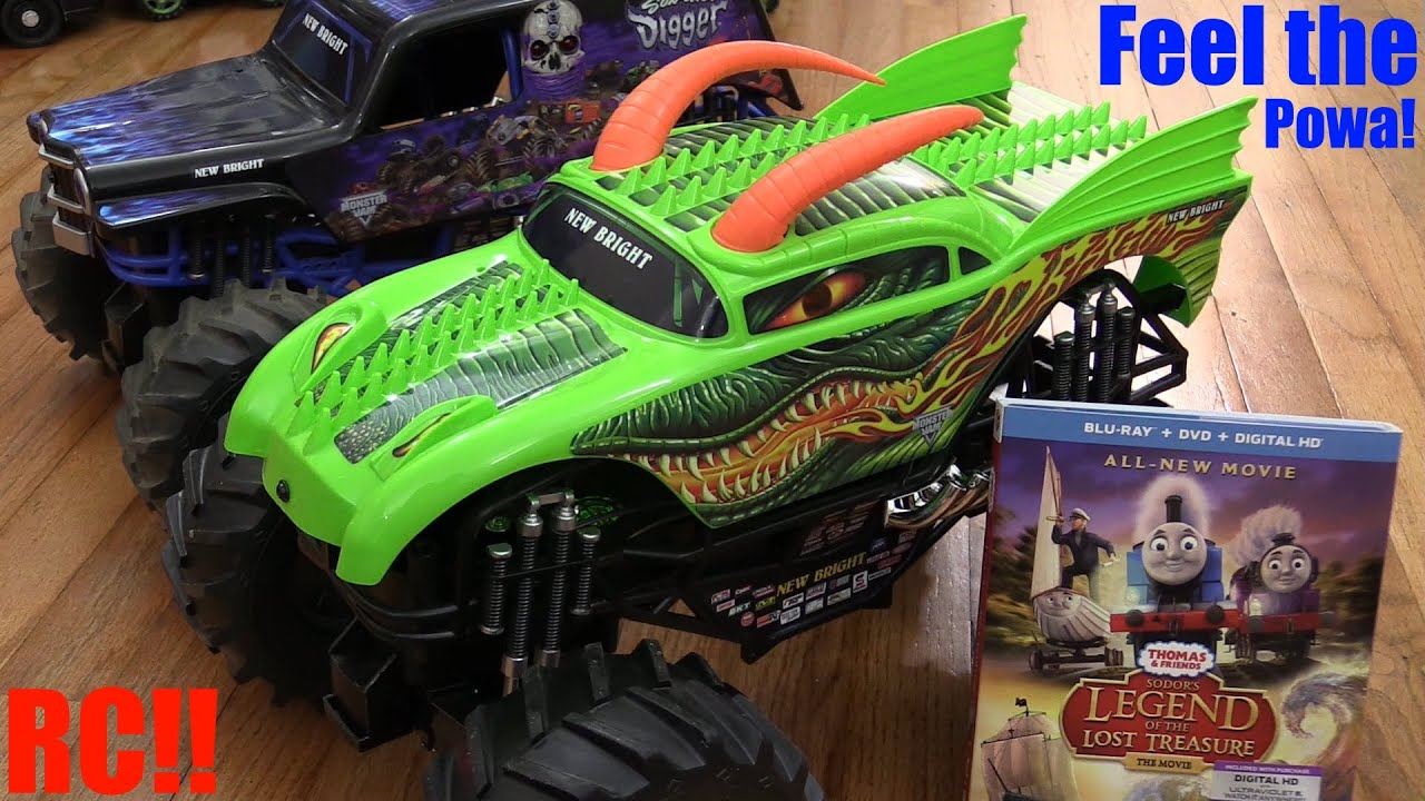 Rc Toy Trucks  Monster Jam Truck Dragon Rc Unboxing And Playtime   Son-uva Digger