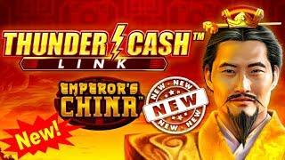 NEW SLOT ! THUNDER CASH LINK Machine Bonuses Won - Nice Session