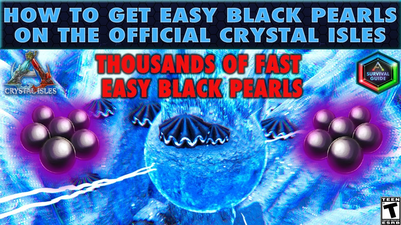 The Best Black Pearl Locations In The Crystal Isles Map Youtube There are plentiful of caves found in the world of ark: the best black pearl locations in the crystal isles map