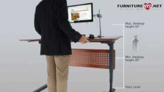 Sit-stand Desk By Jesper Furniture With Adjustable Top