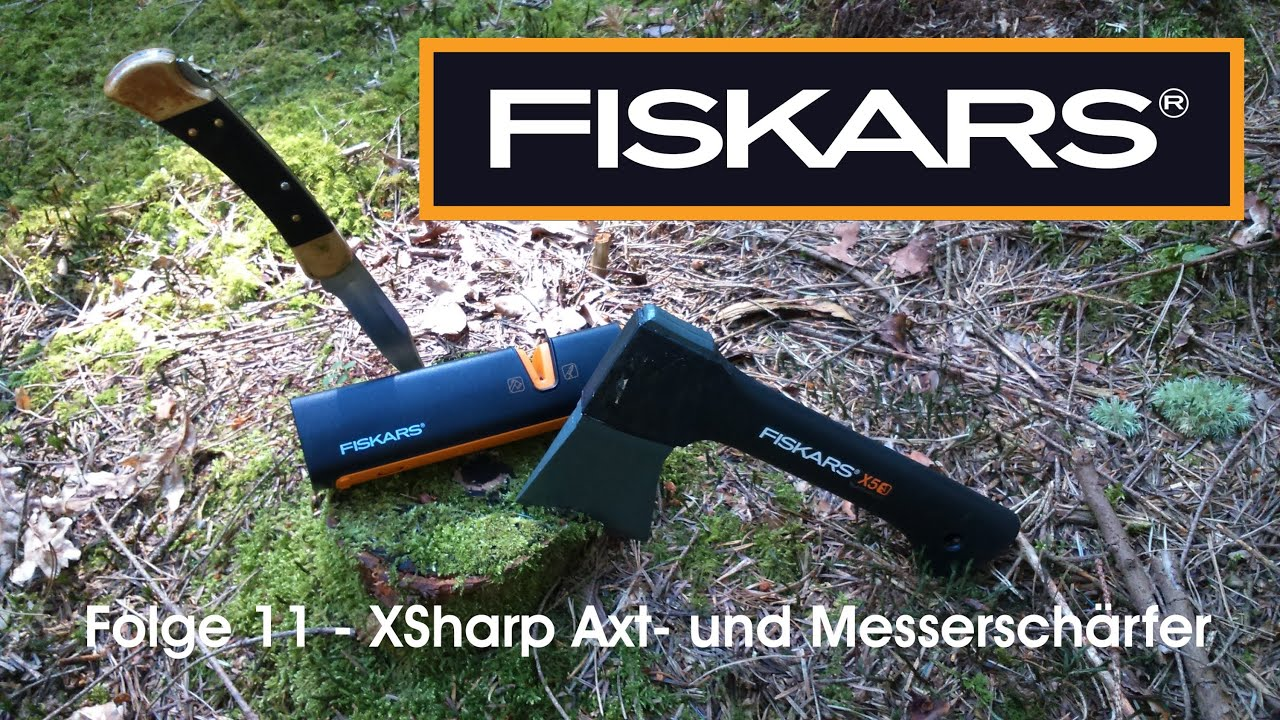 fiskars xsharp axt und messersch rfer doovi. Black Bedroom Furniture Sets. Home Design Ideas