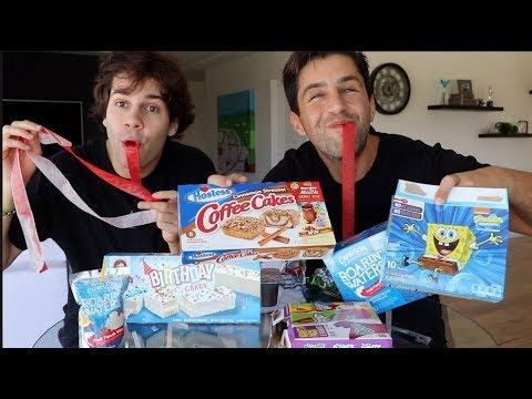 CHILDHOOD SNACKS MUKBANG FT DAVID DOBRIK!