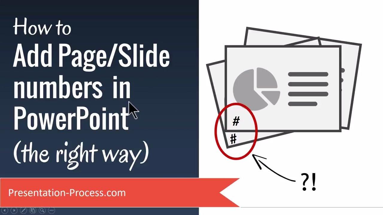 How to add pageslide numbers in powerpoint youtube how to add pageslide numbers in powerpoint presentation process toneelgroepblik Gallery