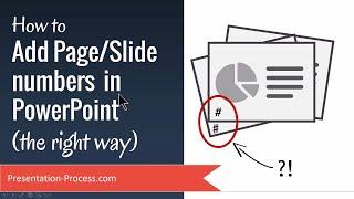 Comment Ajouter une Page/les numéros de Diapositive dans PowerPoint