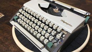 TypewriterMinutes - Typewriter Review:  1967 Olympia SF