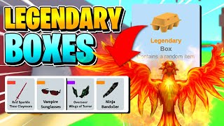 ROBLOX EGG FARM SIMULATOR: LEGENDARY BOXES OPENING!! (TARZAN CLOAK!!) [How To Get!]