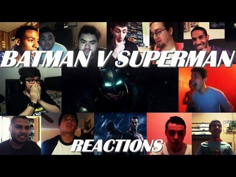 BATMAN V SUPERMAN Dawn of Justice Teaser Trailer #1 REACTIONS