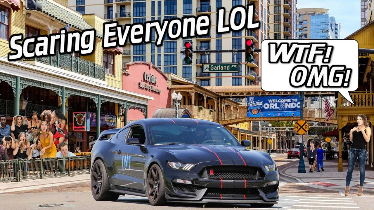 Scaring People in the Loudest GT350R in the City *Girl Freaked Out!*