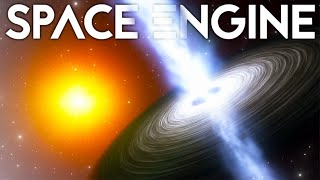 What's Inside A Black Hole? Exploring To The Edge Of The Universe - Space Engine Gameplay