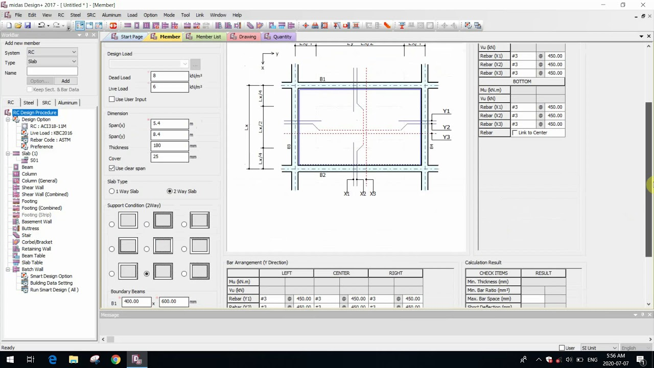 10 Two Way Slab Design Youtube