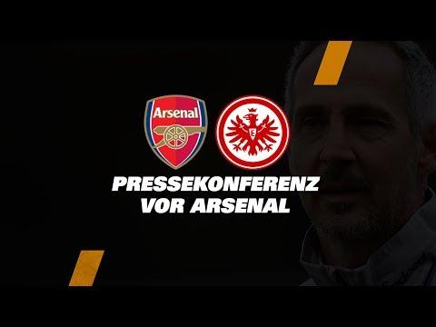 """""""Das Stadion ist eine Riesenmotivation"""" I Pressekonferenz vor Arsenal FC - Eintracht Frankfurt"""
