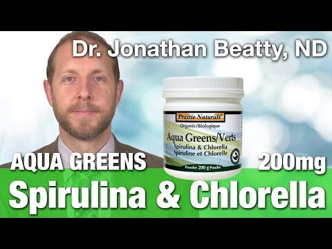 Prairie Naturals Aqua greens spirulina & chlorella 200g with Dr. Jonathan Beatty