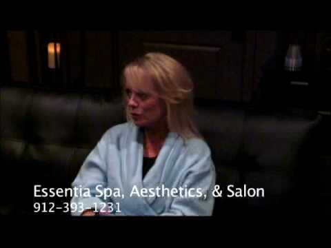 Essentia Spa, Aesthetics, and Salon client Becky from shine 101.9