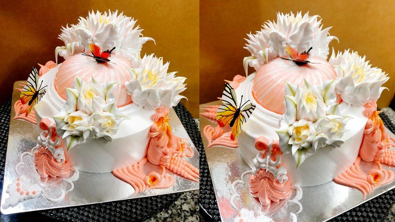 cake decorating asian artistic and impressive - bánh sinh nhật mới lạ nhất 2002 ( 595 )