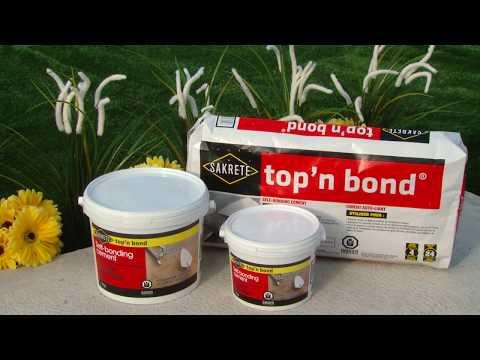 SAKRETE top'n bond How-To Video