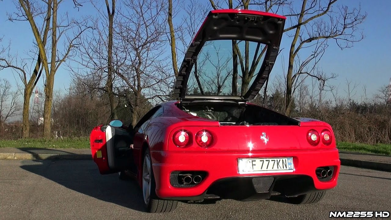 Ferrari 360 Modena F1 Stock Exhaust Revs Youtube