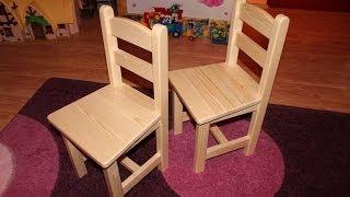 Hobbiasztalos Gyerekszék Készítése Homemade Child Chair