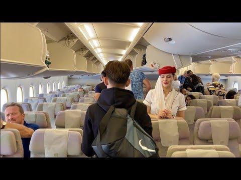 Emirates Airbus A380 - Dubai to Amsterdam (Economy Class)