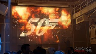 James Bond Themed 3D & 4D Projection Mapping Corporate Party Event - Chicago Projection Mapping