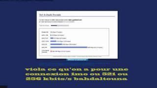Test ADSL fawri en Algérie 2011