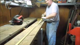 Garage Bench Part 3 Trimming The Bench Top - A Video Tutorial By Old Sneelock's Workshop